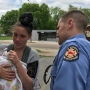 Tennessee firefighter catches baby thrown from second-story window