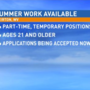 Part-time positions for summer work available in Weirton
