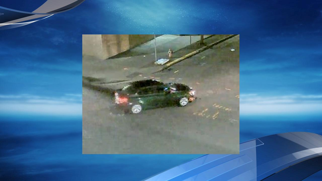 A surveillance camera caught this image of the sedan some of the suspects left in. (Photo: PCC)