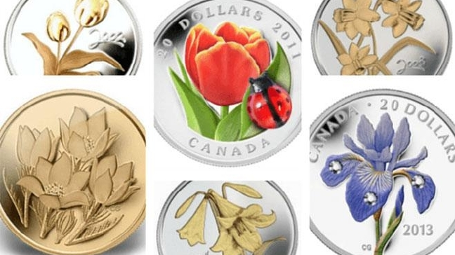 Six Floral Coins to Celebrate Spring