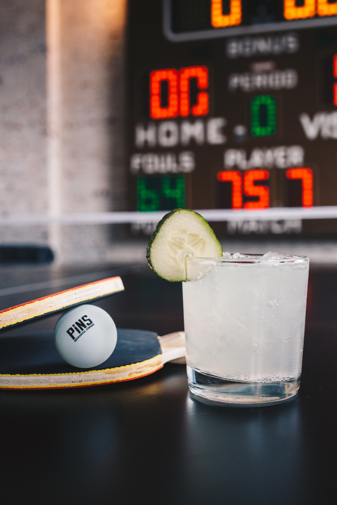 Ping Pong Collins: berry vodka, cucumber, lime juice, simple syrup, and Sprite / Image: Catherine Viox // Published: 11.20.18