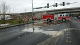 Sticky mess: Glue spill closes road in Redmond