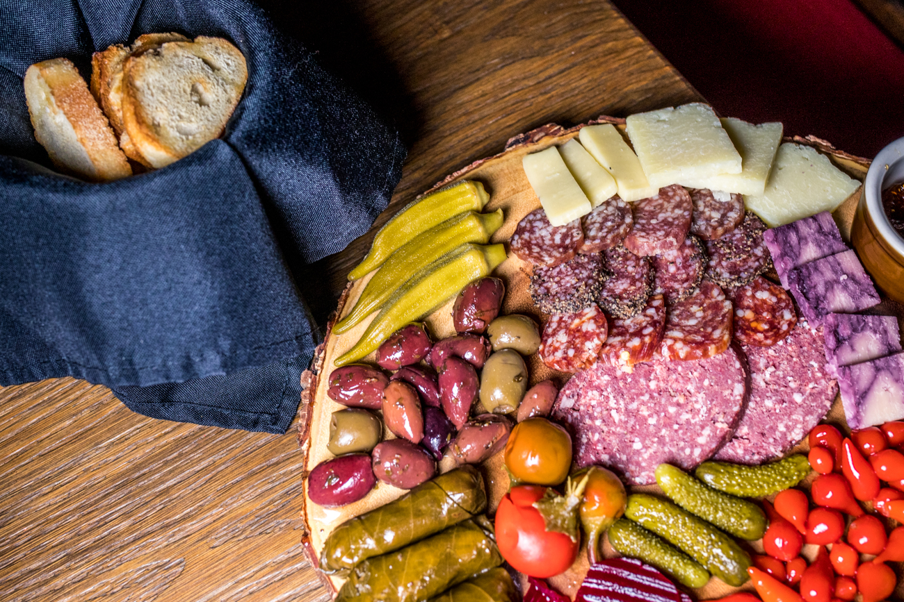 Northside Charcuterie: variety of meats and cheeses, house-pickled vegetables, and crostini / Image: Catherine Viox // Published: 2.25.21