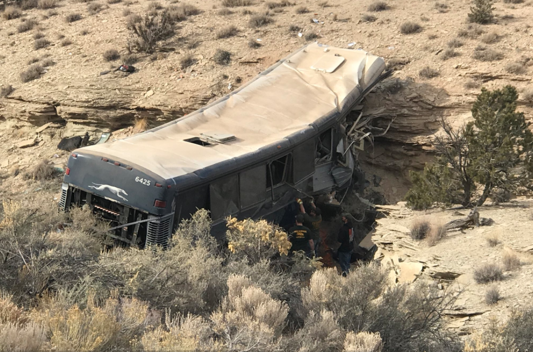 UHP interviewing passengers of deadly Emery County bus crash (Photo: KUTV)