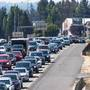 Heavy traffic as thousands head home from path of totality