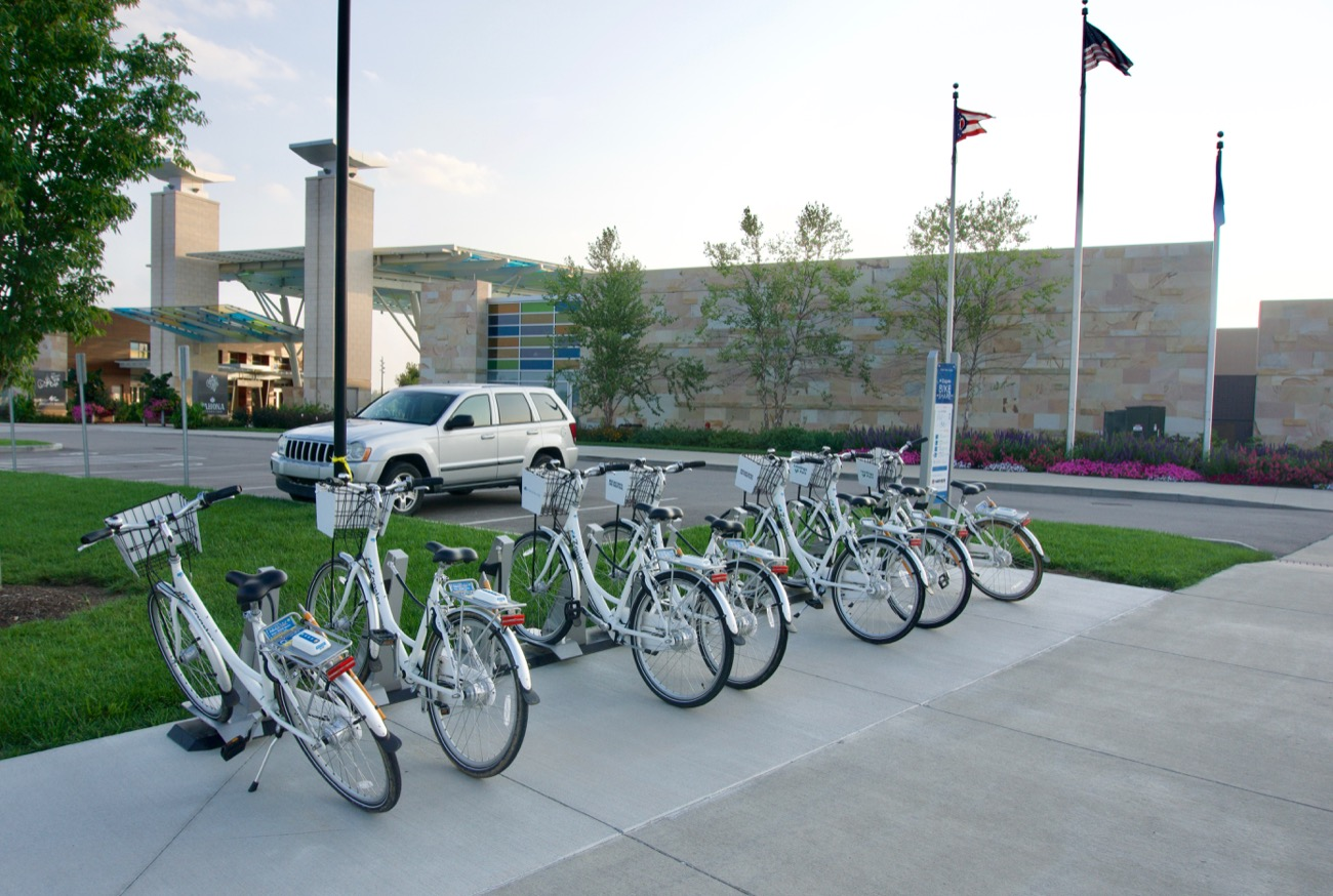 <p>There are eight bike share stations within Blue Ash. You can take a bike outside the Blue Ash city limits, but you have to return it to a station afterwards. / Image: Brian Planalp // Published: 8.28.18</p>