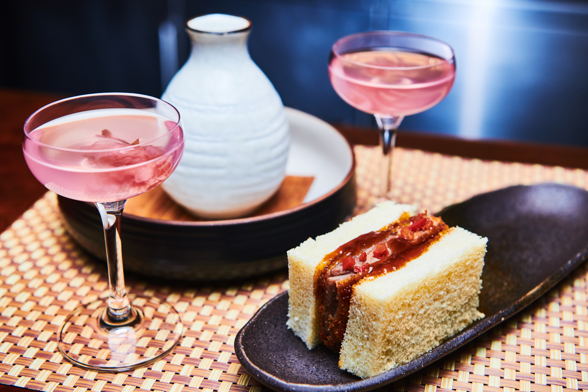 "The Sakura cocktail and accompanying duck sandwich on the Columbia Room's new ""Floriculture"" tasting menu. (Image: Karlin Villondo Photography)"