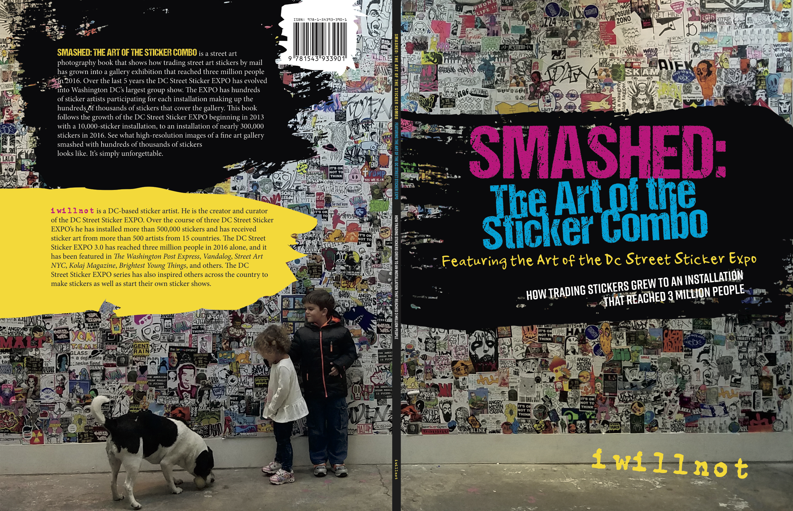 "On July 22,{ }five years after his first expo, artist iwillnot is publishing a 106-page photography book, called ""Smashed: The Art of the Sticker Combo,"" focused on his three sticker art exhibitions at the Capitol Hill art gallery, The Fridge. (Image: Courtesy author iwillnot)"