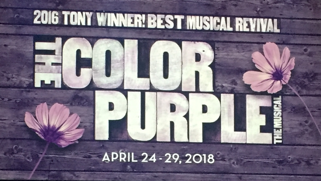 The Color Purple was revealed as an upcoming tour during the Smith Center for the Performing Arts 2017-2018 Broadway series preview Tuesday, Feb. 28, 2017, in Reynolds Hall. It will run in Las Vegas from April 24-29, 2018 (Jami Seymore | KSNV)
