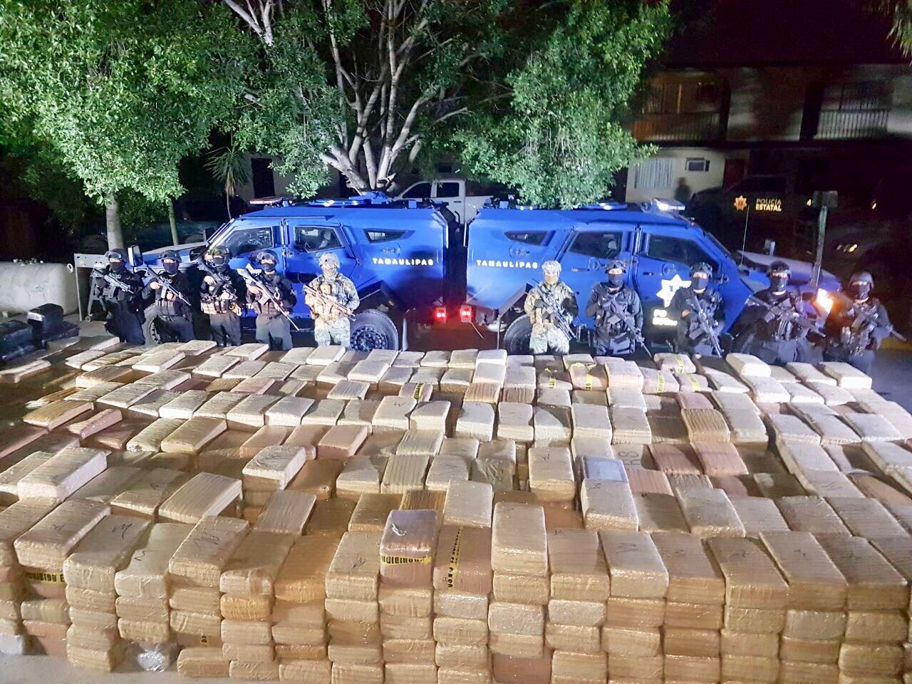 State police and marines have seized more than 5 tons of marijuana near the Texas border in the northern Mexican state of Tamaulipas. (Photos courtesy of the Government of Tamaulipas)