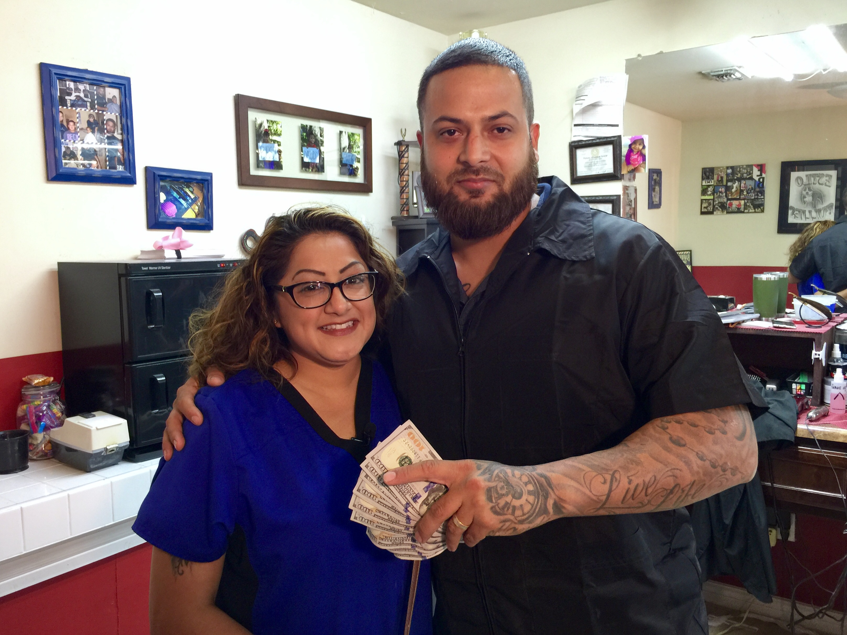 Crystal Vasquez-Ruiz nominated the barbershop owner for his kindness towards her father.{&amp;nbsp;} He received $1,000 from Fox San Antonio. (KABB)<p></p>