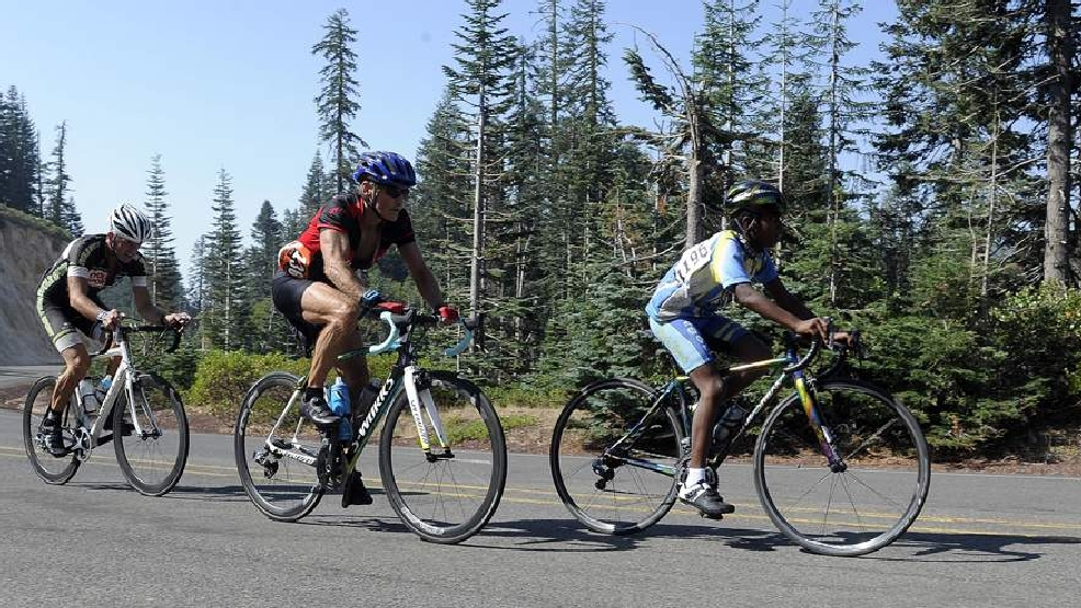 Mt Ashland Hill Climb, from Ashland's downtown plaza to Mt Ashland's parking lot, either by paved or dirt roads. - Andy Atkinson