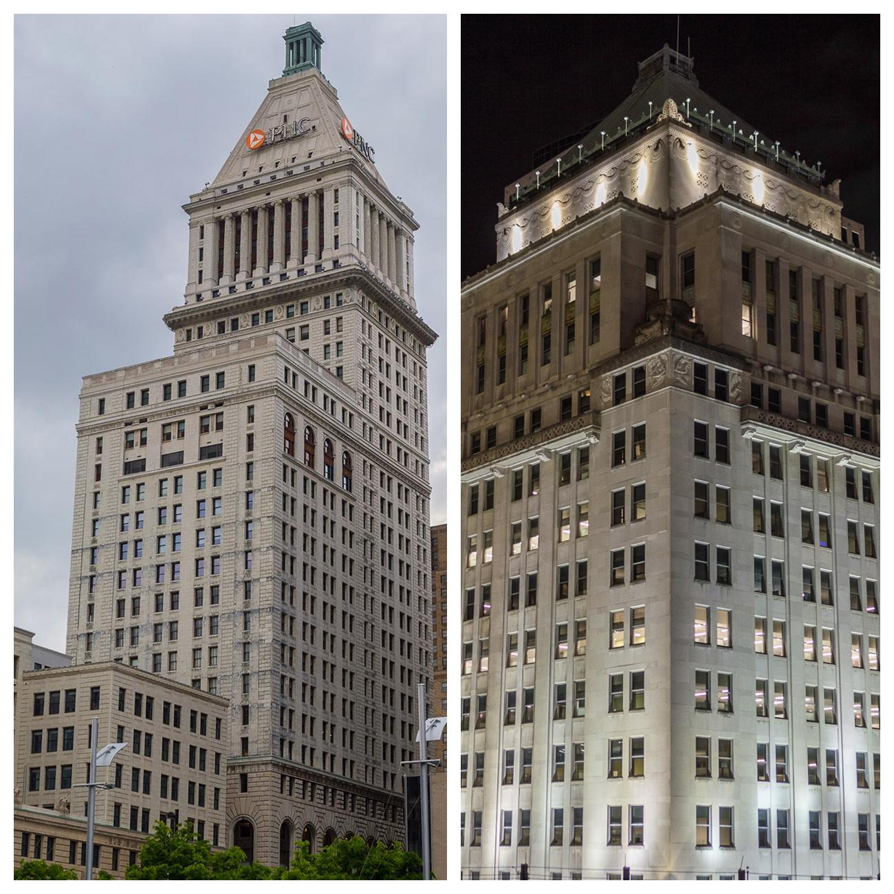 4th Street has old, iconic skyscrapers: 4th and Vine Tower and Duke Energy Building / Images: Phil Armstrong, Cincinnati Refined // Published: 4.23.18