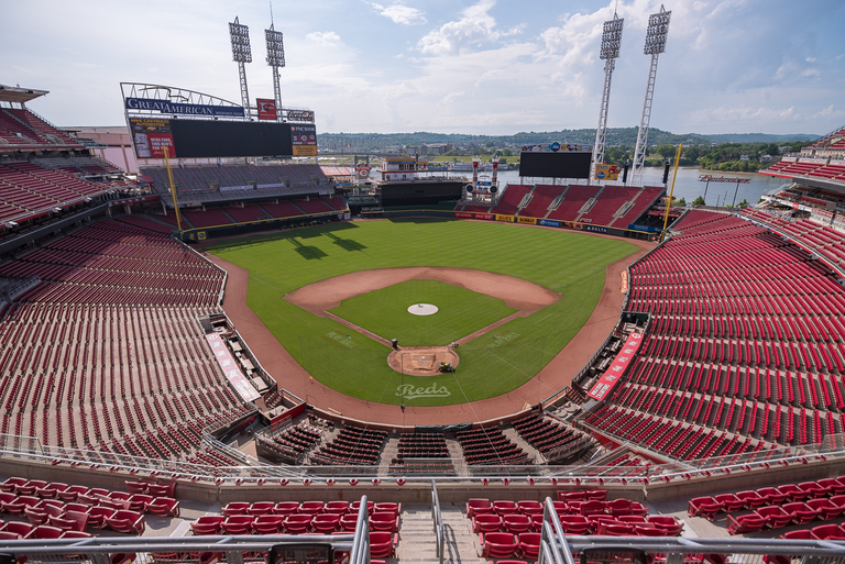 Great American Ball Park is offering new menu items for the 2018 season. UDF ice cream, burgers, gourmet hot dogs, Frisch's Hot Fudge Cake, and goetta fries are among them. You can get the new menu items at various locations around the park. / Image: Phil Armstrong, Cincinnati Refined // Published: 4.7.18
