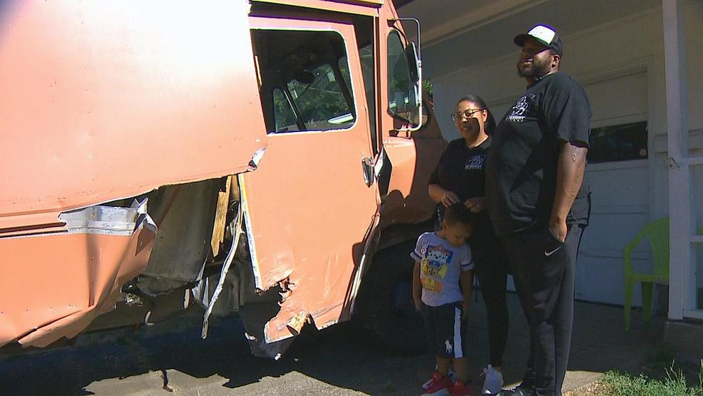 Portland couple loses newly purchased food truck in crash