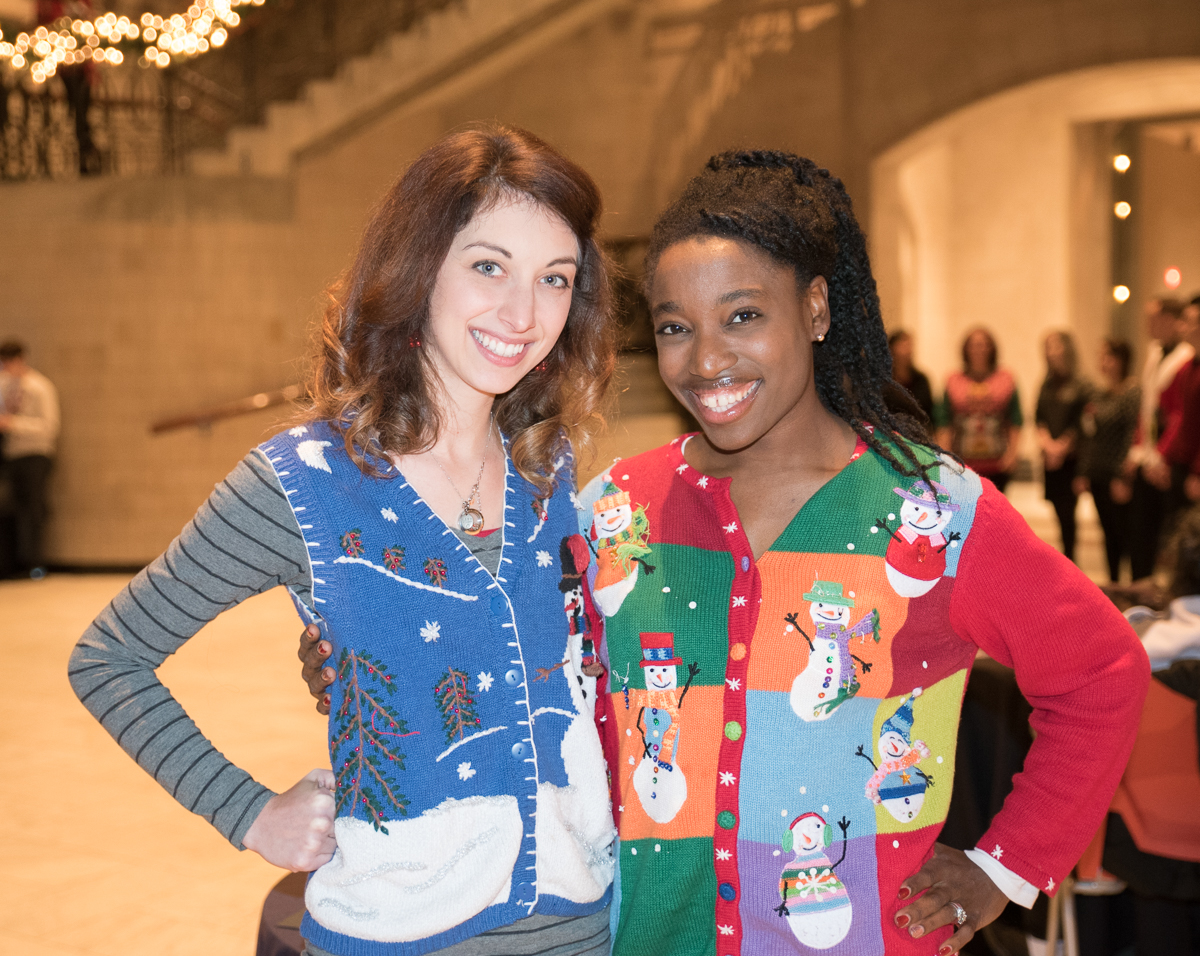 People: Jenny Simowitz and Soraya Smith / Event: CAM's Ugly Christmas Sweater Party (12.22.16) / Image: Sherry Lachelle Photography / Published: 1.2.17