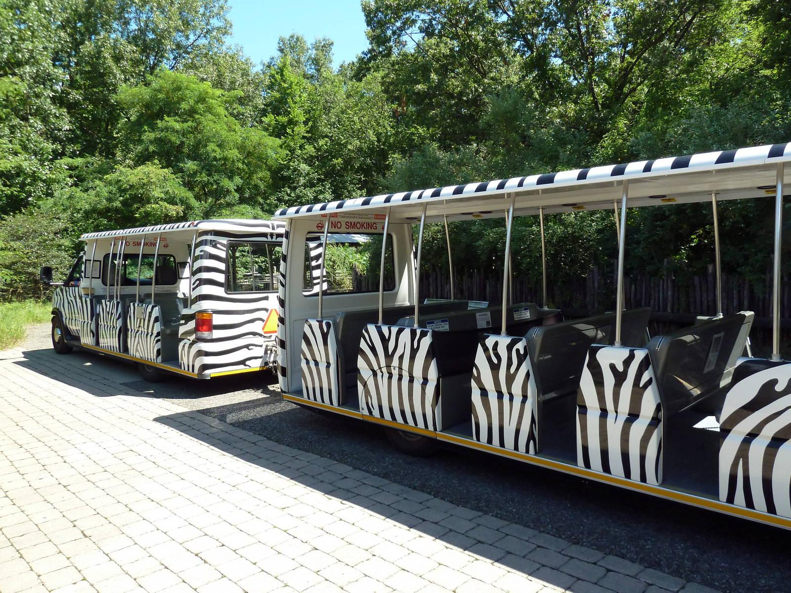 A rendering of the new passenger tram in the works for the first phase of Seneca Park Zoo's master renovation plan. (Photo: Monroe County)