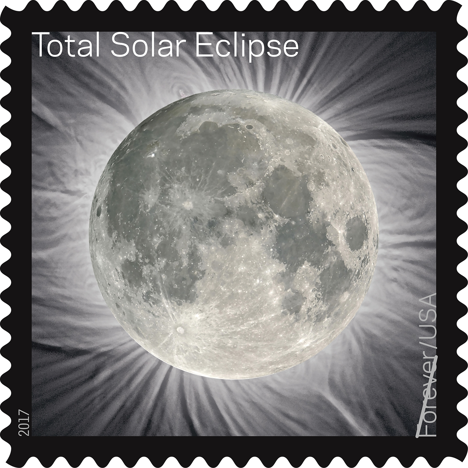 Eclipse stamp. (Photo: courtesy Postal Service)
