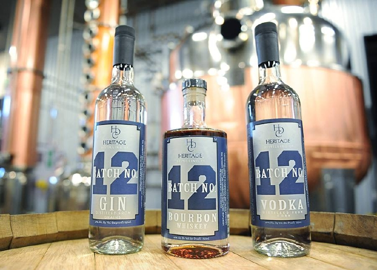 The spirits from Gig Harbor's Heritage Distilling Co for 12s. (Image: Heritage Distilling Co.)