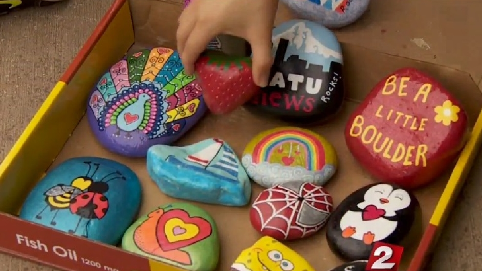 painted rocks hidden around vancouver are spreading smiles