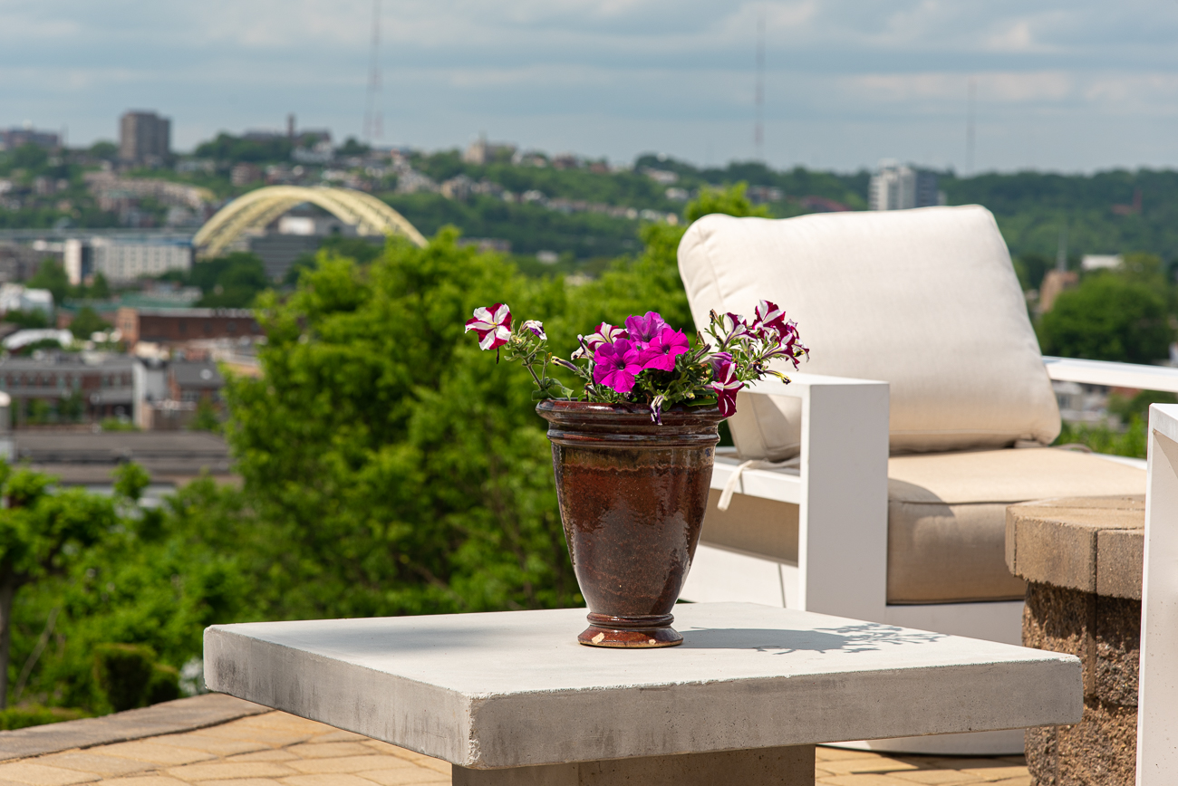 No better place to relax in the sun than a private deck with a view. / Image: Phil Armstrong, Cincinnati Refined // Published: 5.31.19