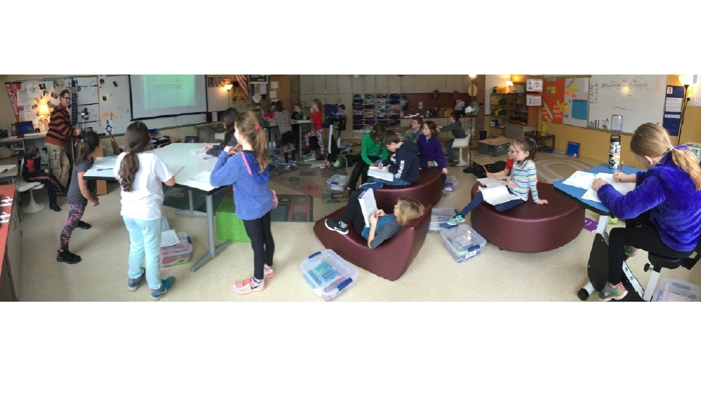 Elementary Students Ditching Standard Desks To Test 39 21st Century Classroom Furniture 39 Wpbn