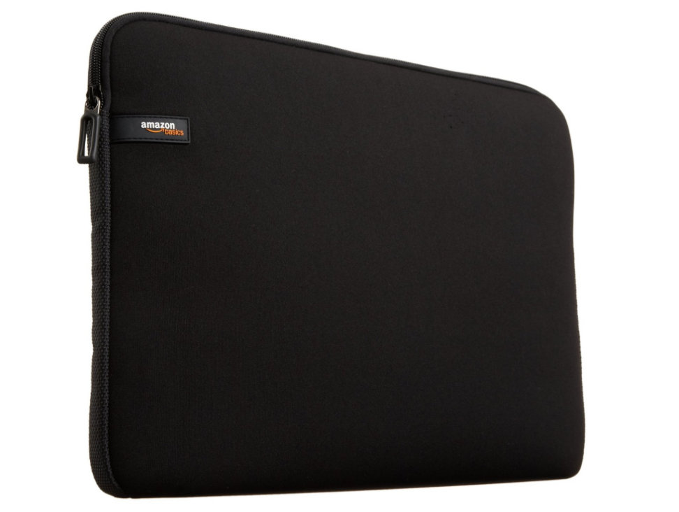 AmazonBasics 13.3-Inch Laptop Sleeve - Black ($6.49). Find on amazon.com. (Image: Amazon.com)