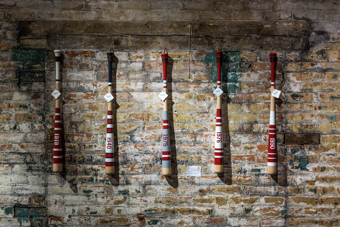 'Reds World Series Bats' by Mitchell Bat Co / Image: Mike Menke // Published: 4.1.18