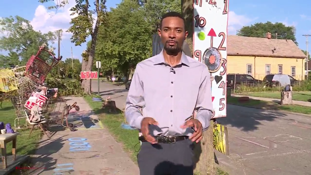 Detroit's Heidelberg Project is a transformative outdoor art installation, which artist Tyree Guyton created in response to blight and crime more than 30 years ago. Pictured Aug. 10, 2020.{ }