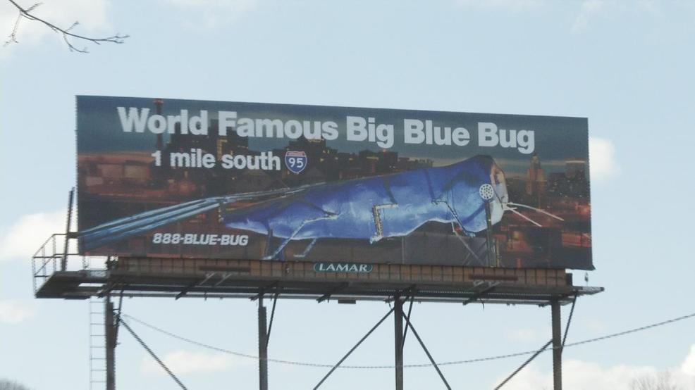 'World famous' Big Blue Bug has its own billboard