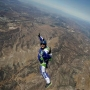 Skydiver makes final preparations to jump without parachute