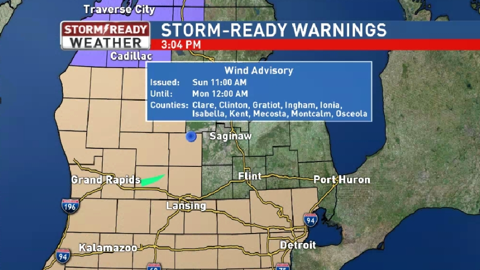 Wind Advisory issued for Clare, Gratiot, and Isabella Counties | WEYI