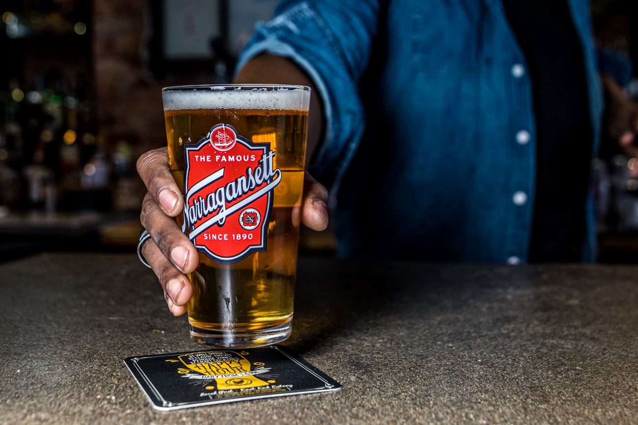 A fresh pint of Narragansett Lager / Image: Catherine Viox{ }// Published: 3.12.20