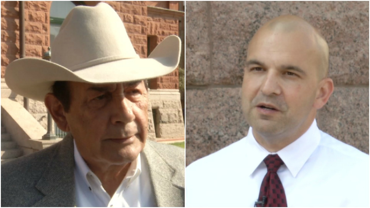The two men who hope to unseat Susan Pamerleau as Bexar County Sheriff in November, Andy Lopez (left) and Javier Salazar (right), spoke to us about why they think you should vote for them in the runoff (Fox San Antonio)