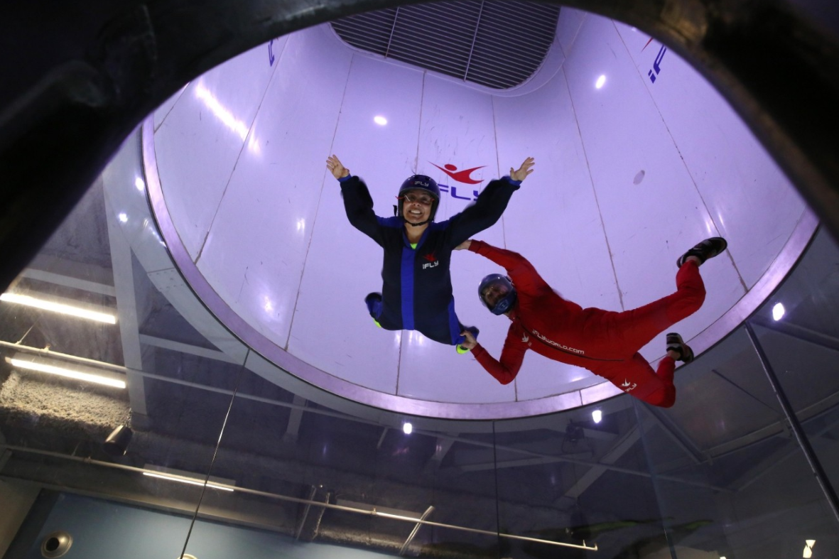 Have you ever wanted to take to the sky? At iFLY in Ashburn, Virginia, you can fly like a bird at their indoor skydiving facility. TICKETS:  $79.95 for the basic package, which includes two flights for one person. (Photo: Amanda Andrade-Rhoades/DC Refined)