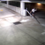 Man kicks down gate pole, steals it from parking garage