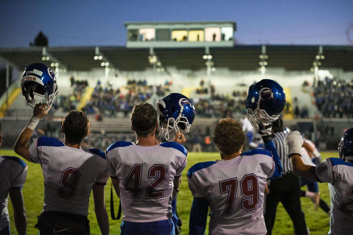 hurchill's players prepare for the opening kickoff during their 56-7 victory over Springfield to remain 7-0 on the season. Photo by Jeff Dean, Oregon News Lab