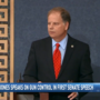 Senator Doug Jones tackles gun control in 1st speech