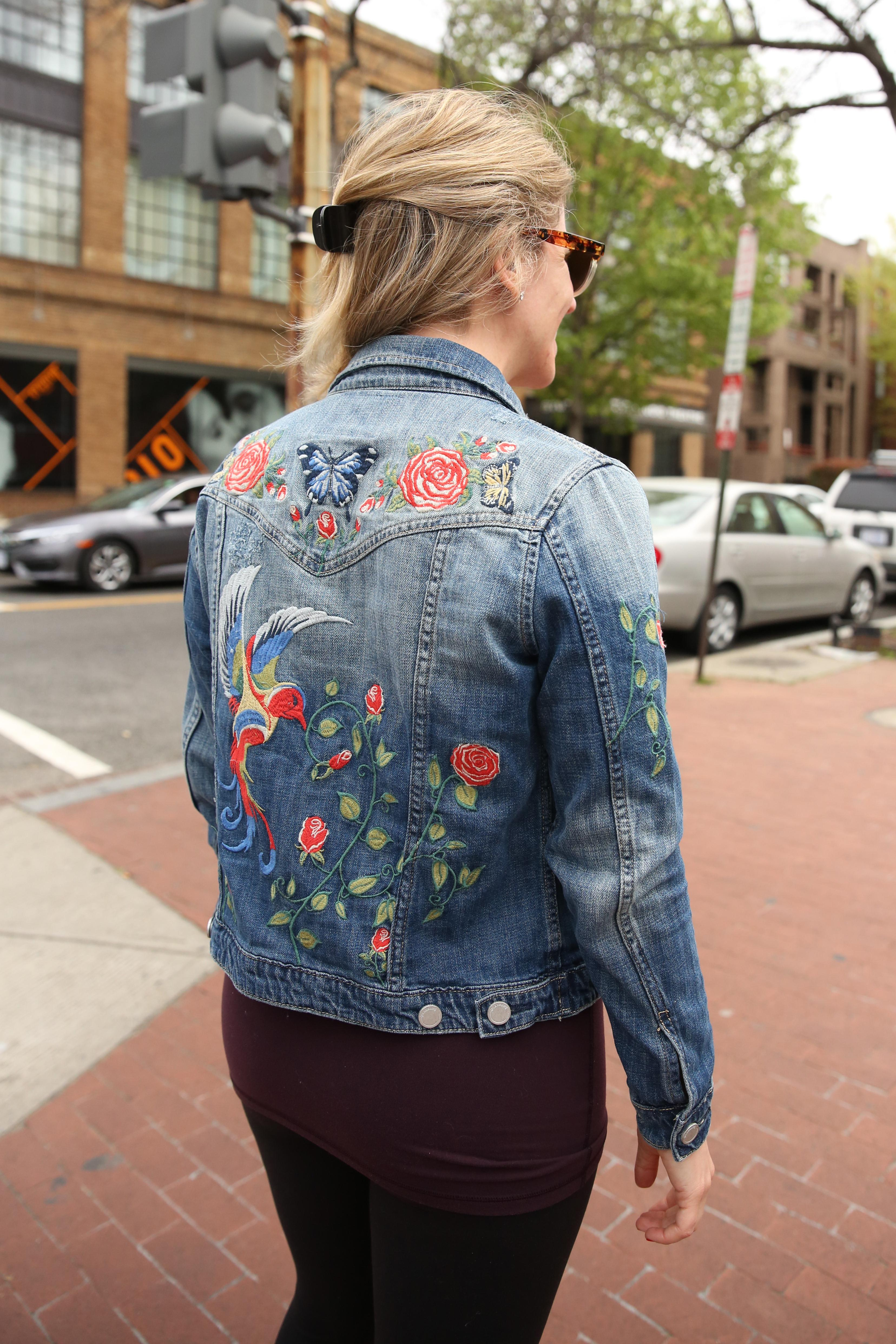 Jamie Geller's embroidered jacket is a great way to embrace a floral without being overbearing.  (Amanda Andrade-Rhoades/DC Refined)