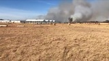 Large grass fire burning in Jones County