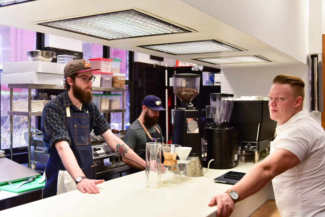 BLOC Coffee, an East Price Hill coffee shop, recently put a new shop inside of City Hall on the first floor. / Image: Phil Armstrong, Cincinnati Refined // Published: 1.20.17