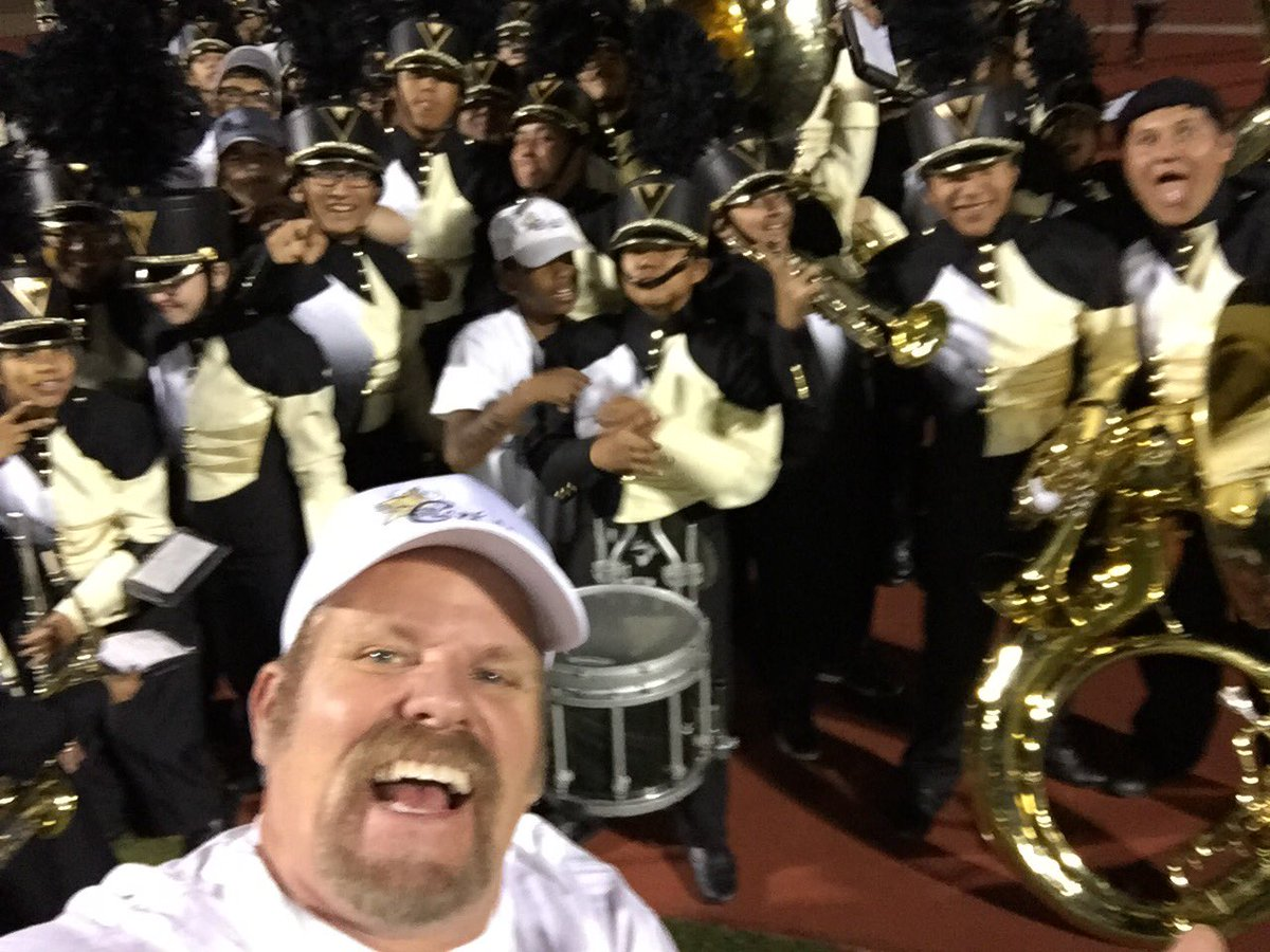 Kevin L. Child with Clark Chargers band homecoming 10/07/16 (Kevin L. Child)