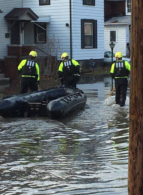 Water rescue on 6th and Lexington in Elkhart. // WSBT 22 photo
