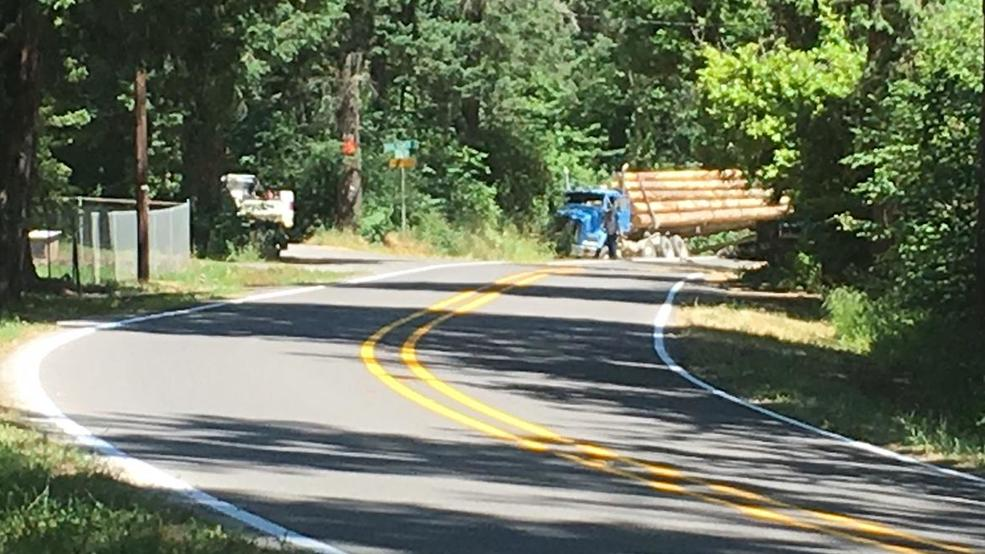 Motorcyclist dead after crash with log truck on rural Lane County
