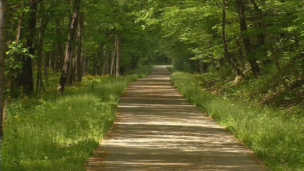 The Greenbrier River Trail runs directly beside Country River Cabins. (WCHS/WVAH)