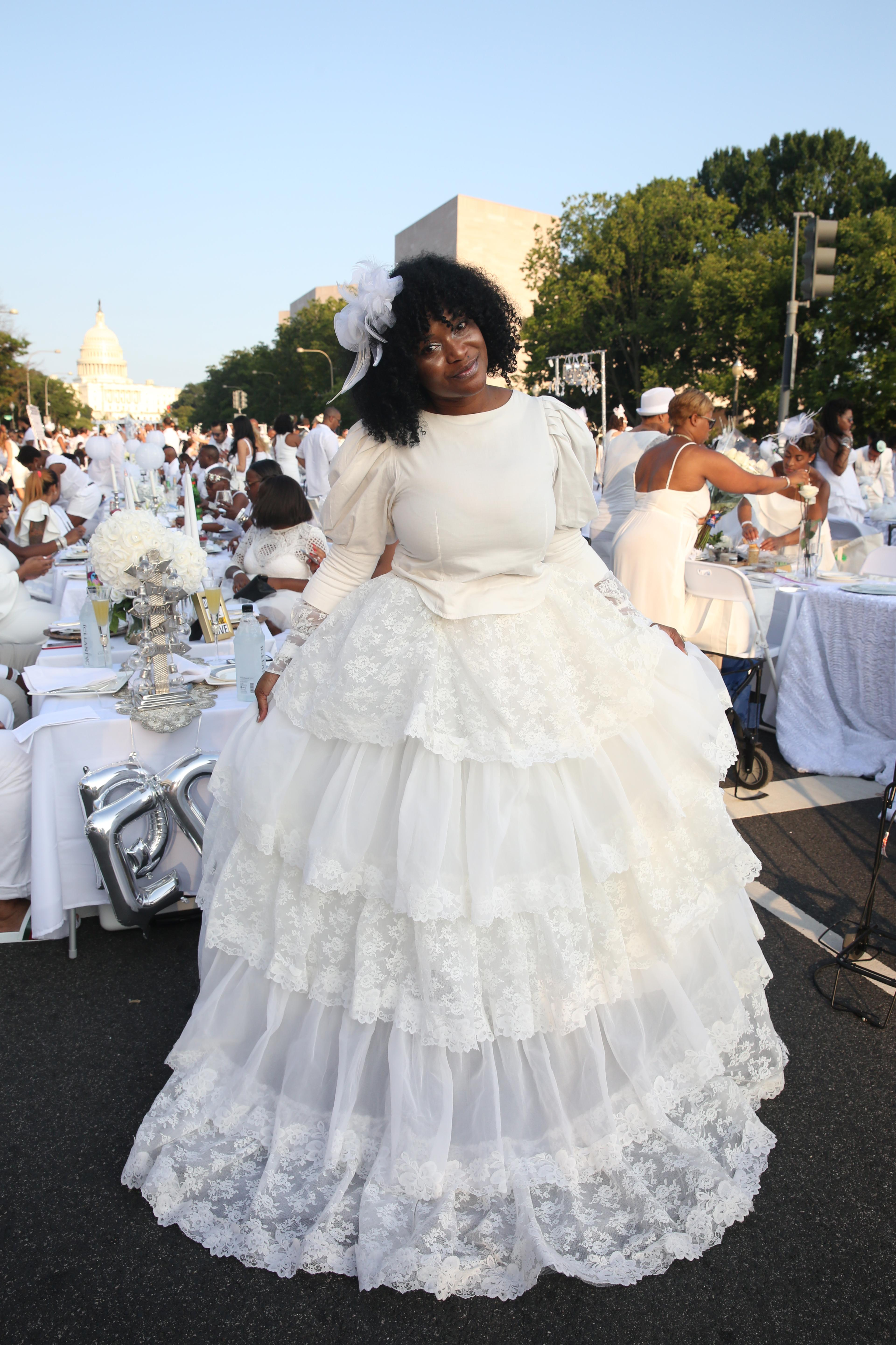 Traquel Butler-Moore's dress was delightfully lacy from head to toe.  (Amanda Andrade-Rhoades/DC Refined)