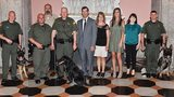 Congrats to the graduates! Three new K-9 officers recognized at the Ohio Statehouse