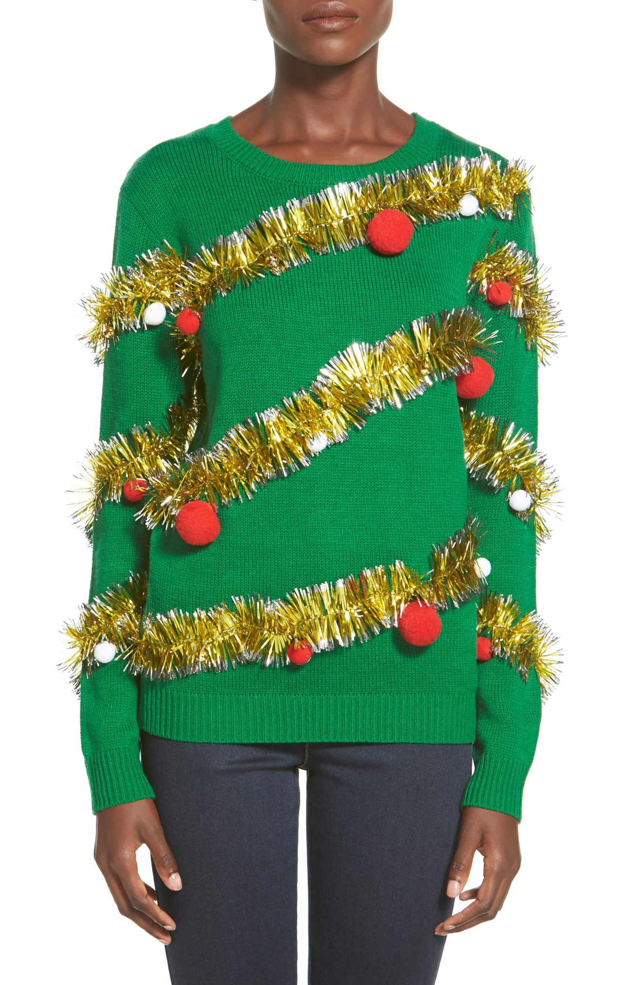 Ten Sixty Sherman Tinsel Ball Christmas Sweater, $42 (Photo: Nordstrom)