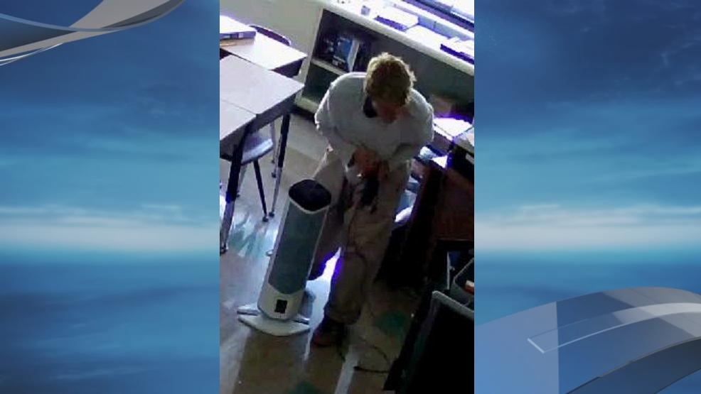 A man was caught on camera stealing iPads from a German Village elementary school (Courtesy: Columbus Police)