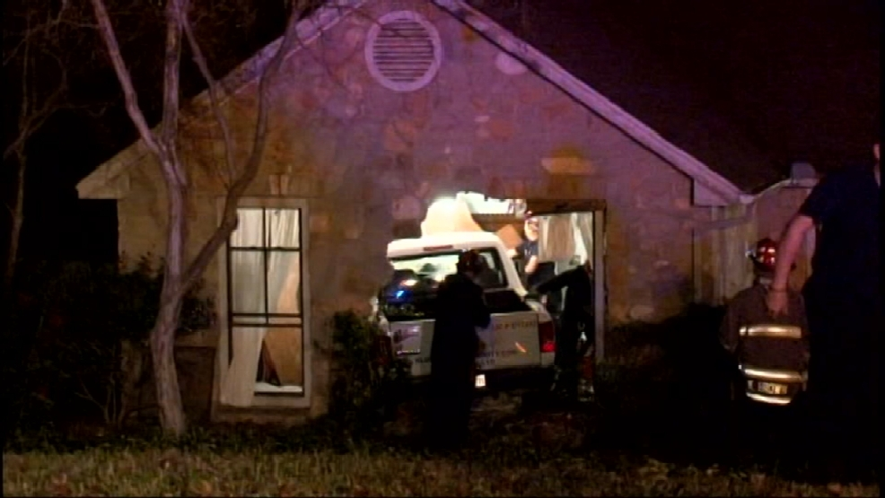 Image result for Security guard falls asleep, plows into North Side home